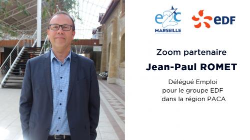 Jean-Paul ROMET, Délégué Emploi et RSE pour le groupe EDF dans la région PACA