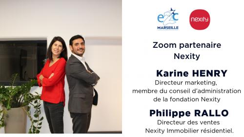 Karine HENRY, Directeur marketing, membre du conseil d'administration de la fondation Nexity et Philippe RALLO, directeur des ventes Nexity immobilier résidentiel
