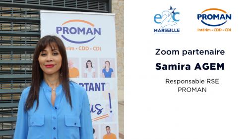 Samira AGEM, responsable RSE Proman