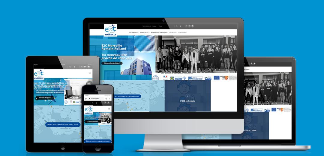 Un nouveau site internet pour l'E2C Marseille