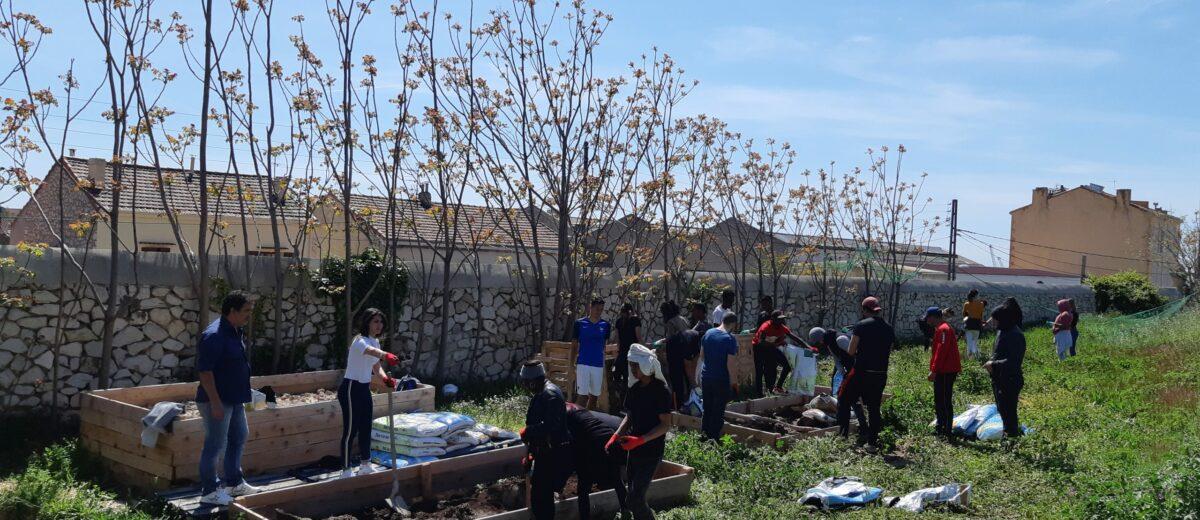 Un projet permaculture mené par les stagiaires de l'E2C