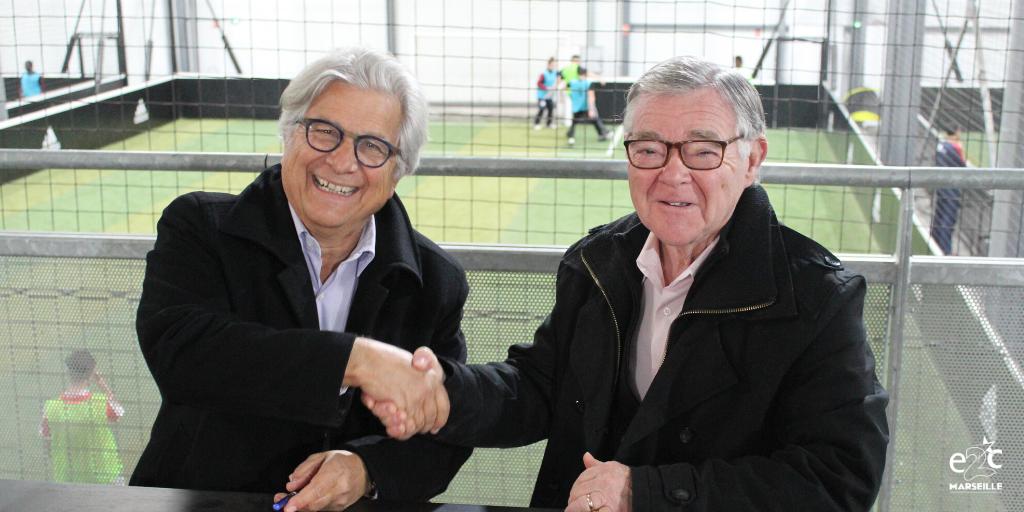 Foot Dating et Convention de partenariat District de Provence Football FFF avec l'E2C Marseille