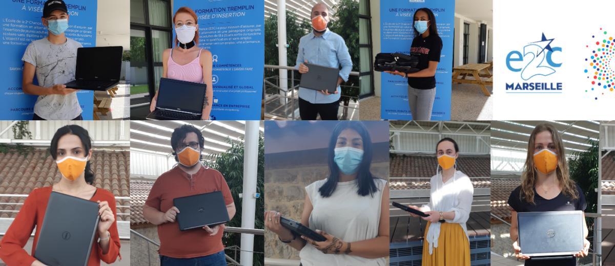 70 stagiaires de l'E2C Marseille connectés grâce au collectif #Connexion d'urgence