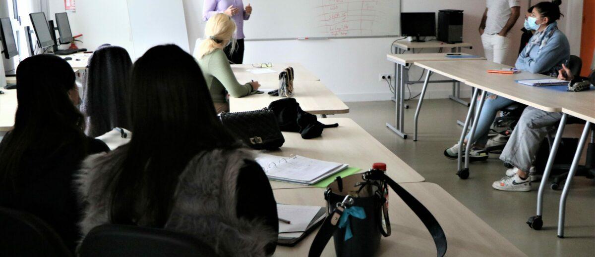 Les stagiaires de la filière santé ont participé à un atelier avec Cécile ALBALADEJO