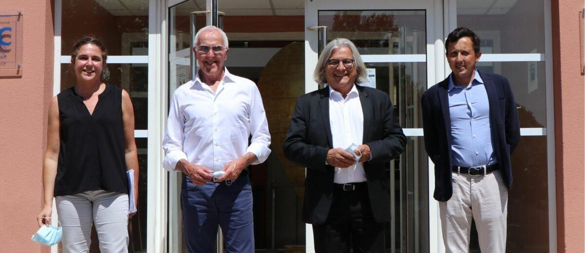 Frank McCourt et Pablo Longoria à l'École de la 2e Chance de Marseille !