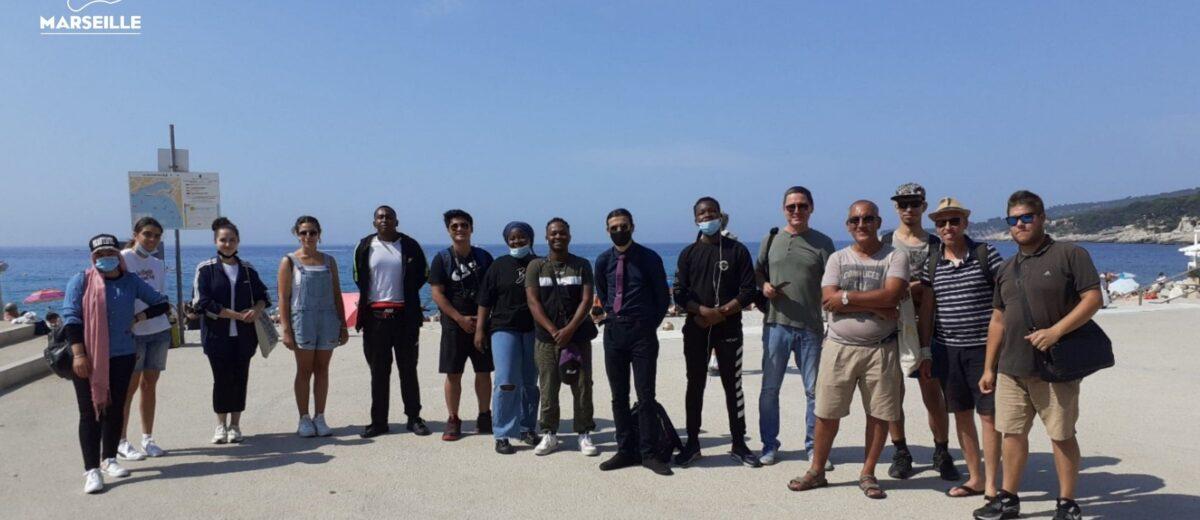 Les stagiaires de l'E2C Marseille visitent la ville de Cassis
