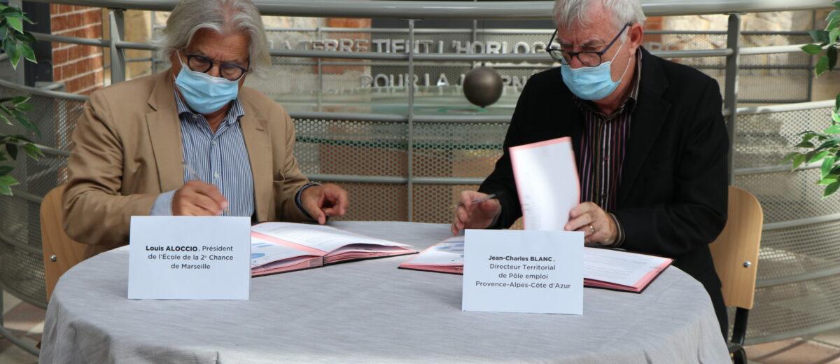 L'E2C Marseille et Pôle emploi renouvellent leur engagement