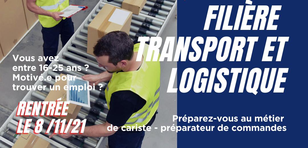Nouveau : filière transport et logistique avec le soutien de la Fondation CMA CGM