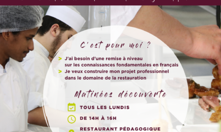 Matinée découverte filière restauration français renforcé E2C Marseille